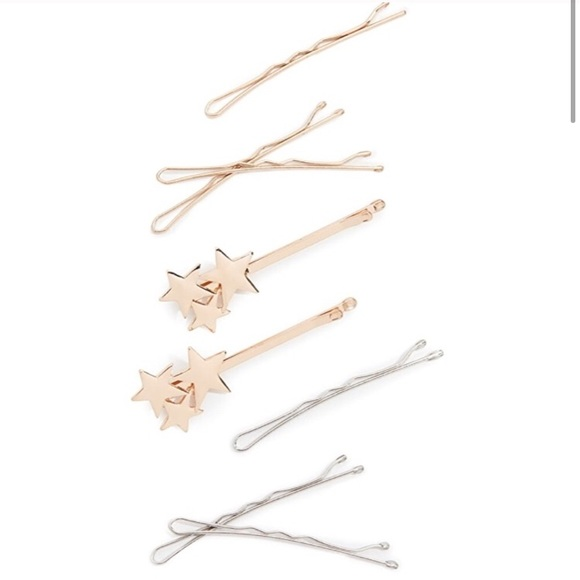 NWT Kitsch Metallic Star 8 piece Bobby Pin Set